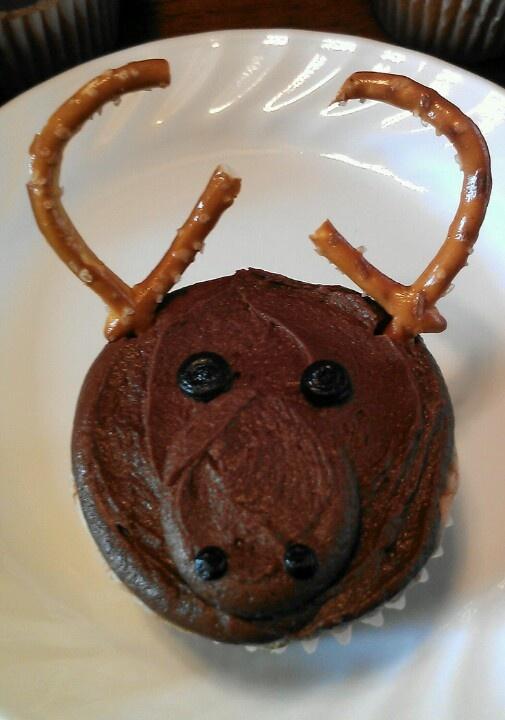 moose cake chocolate moose hunting cupcakes creative cakes cupcake ...