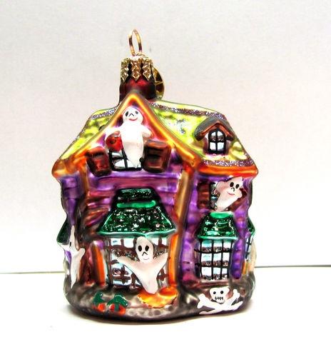 christopher radko glass halloween ornament howl manor ebay - Halloween Christmas Ornaments