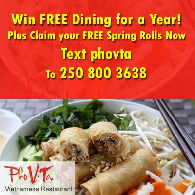 Asian Restaurant in Nanaimo Pho V.ta offers the best in authentic Vietnamese cuisine.