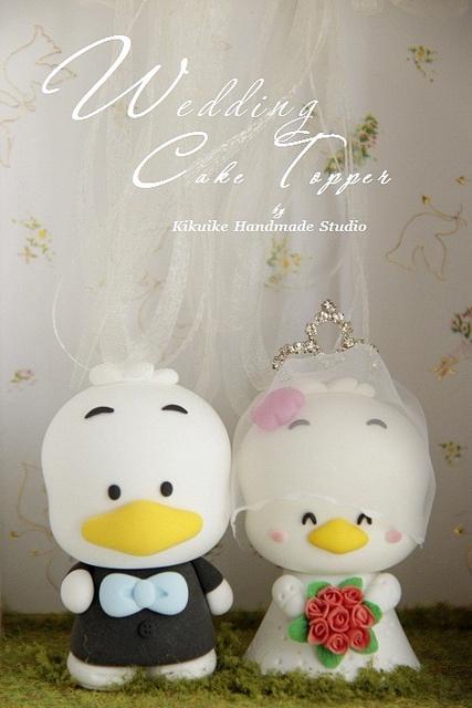 Pekkle wedding cake topper by charles fukuyama, via Flickr