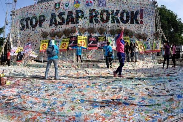 30 ribu cap telapak tangan peringati Hari Tanpa Tembakau Sedunia