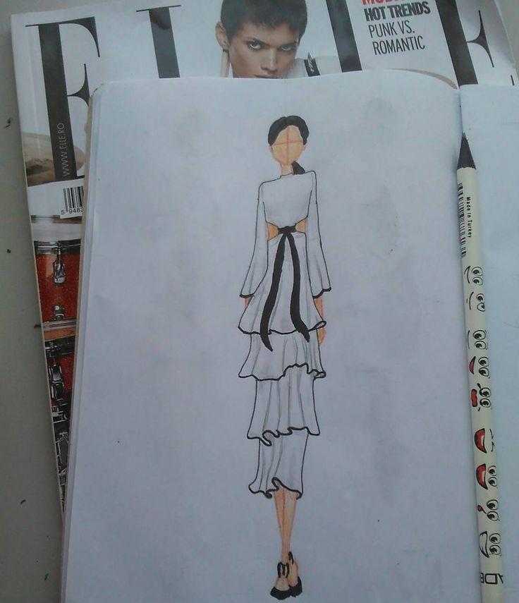 #illustration #inspiration #instadesigner #fashion #figure #future #fashiondesigner #fashionblogger #youngartist #sketch #style #styliste #summer #newideas #dnce #proenzaschouler #issalish #collection #body #proportion #spring2016 #june #elleromania #elle #juneoutfit #cakebytheocean