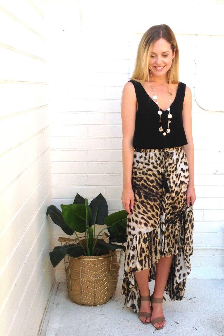 Eb & Ive - Caicos Ra Ra Skirt- Leopard