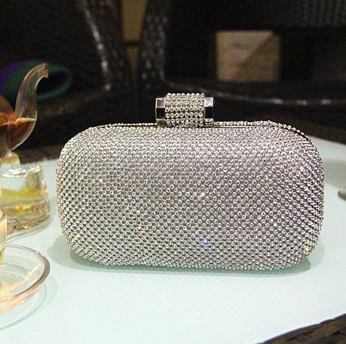 New !! high grade  women Clutch Handbags Evening Bag full crystal Diamond rings Chain Wedding Party shoulder bags Purse XP151 US $35.99