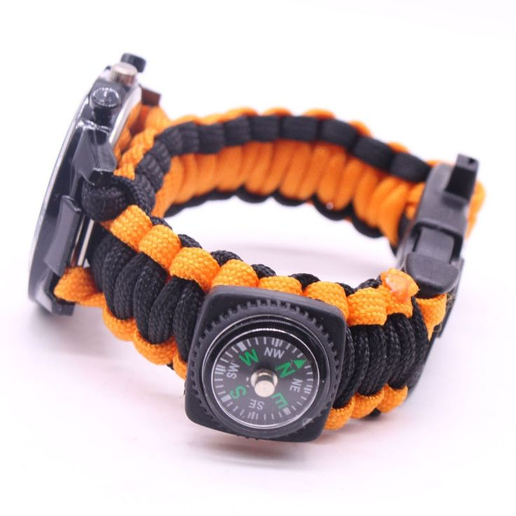 5 in 1 Outdoor Survival Watch Paracord Bracelet with Sales Online #1 - Tomtop.com  #women #men #fashion #jewelry #watches