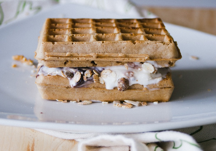 #ice #cream muesli #waffle