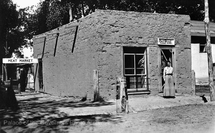 Post Office, Espanola, New Mexico Photographer: Jesse Nusbaum Date: 1915-1920? Negative Number 139135 ""