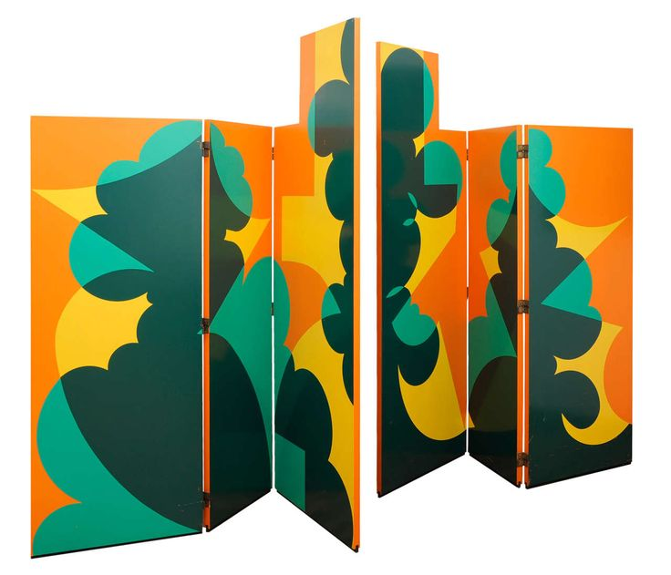 Screen by Giacomo Balla, 1971. Wood covered in silk-screen print. Produced by Gavina.