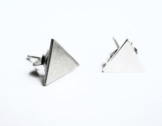 Oorringen - Driehoek oorbellen - Een uniek product van Danielle-Vroemen op DaWanda