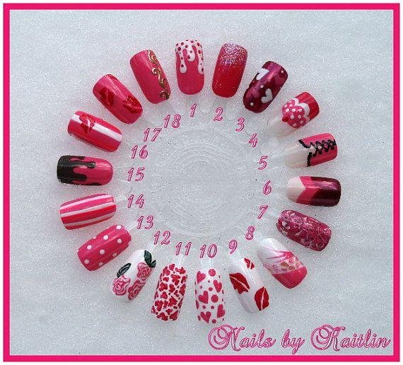 25+ Best Ideas About Valentine Day Nails On Pinterest