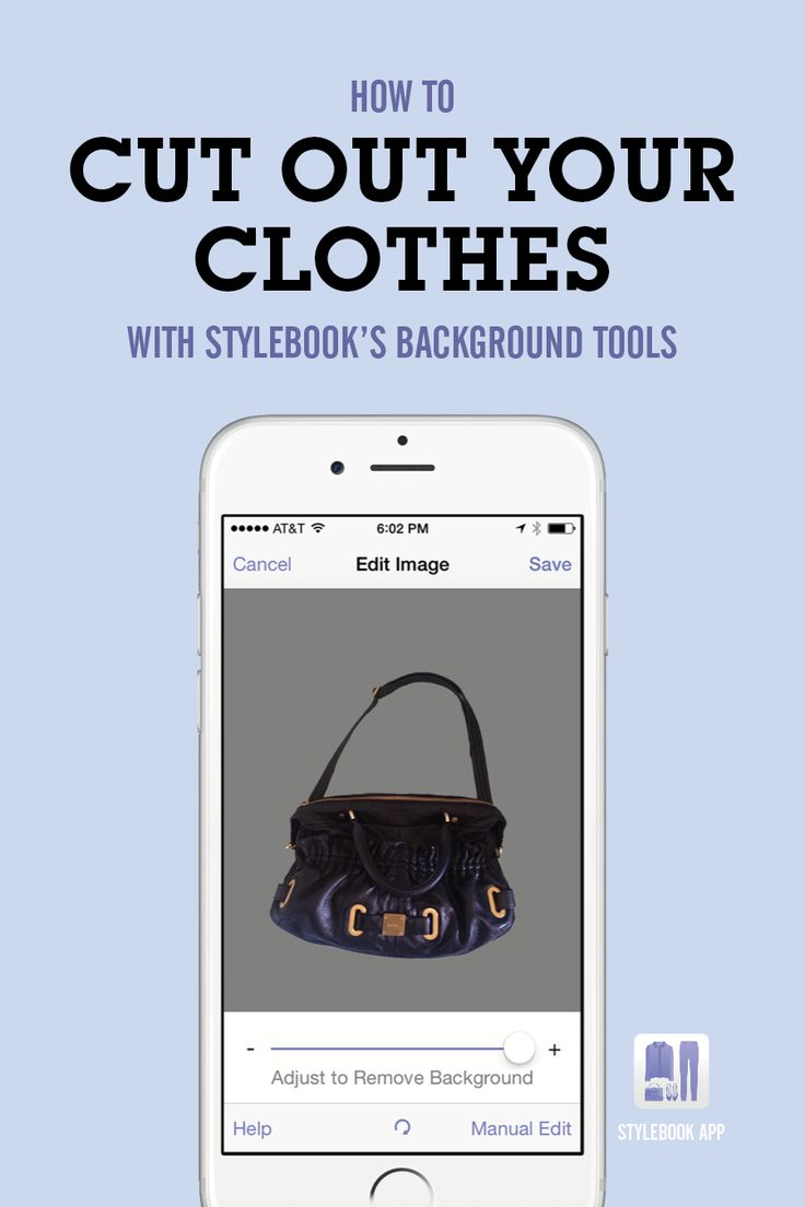 Get perfect background removal on your closet photos with Stylebook's photo editing tools.