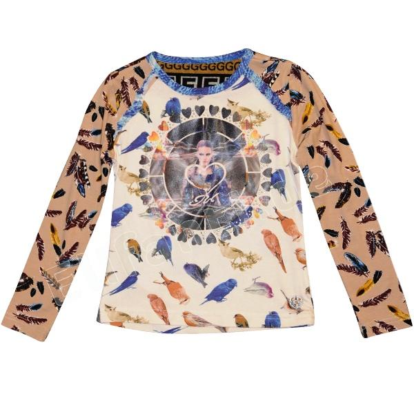 wouw!! Carbone LA-Shirt met vogelprint