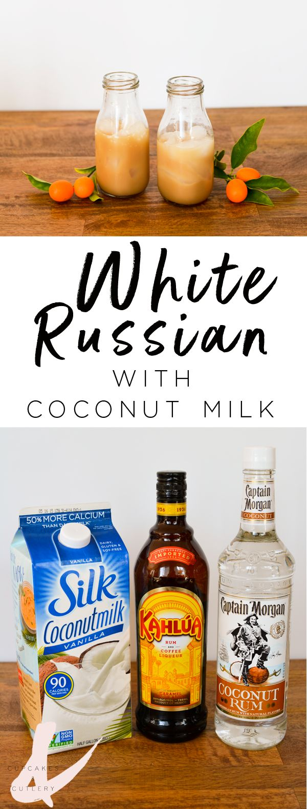 Here's my yummy take on a White Russian but with coconut rum instead of vodka. I call it The Little White Lie.