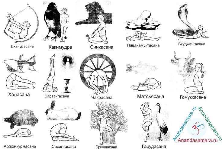 йога асаны с названиями в картинках распечатать будущему