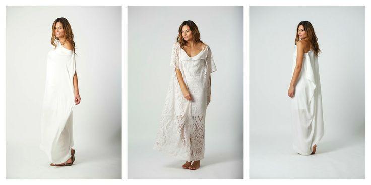 Baz lace kaftan, bohemian inspired, beach wedding dress, effortless elegance