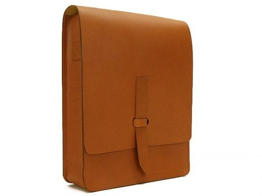 Leather Handcrafted Messenger  IPAD  Brifcase  by YuffyLeather