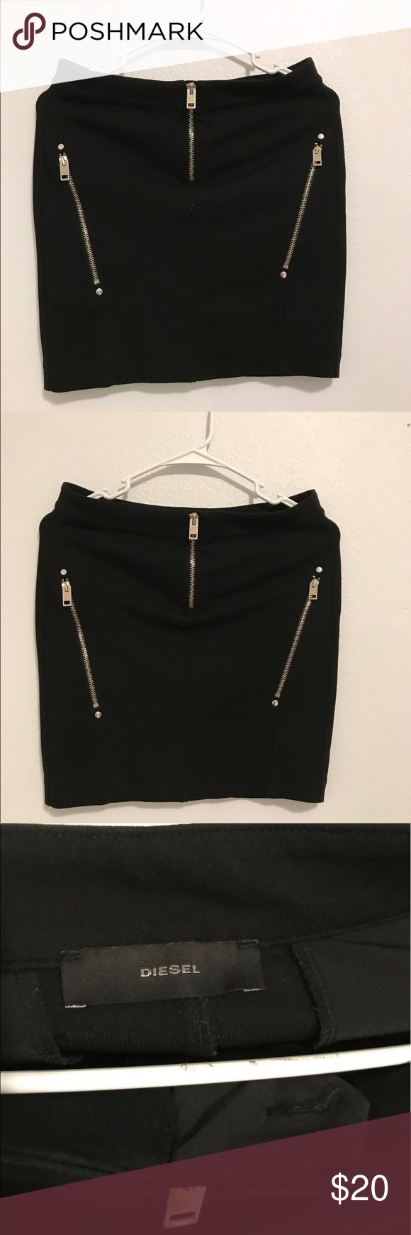 DIESEL black mini skirt Wore twice, in good condition Diesel Skirts Mini