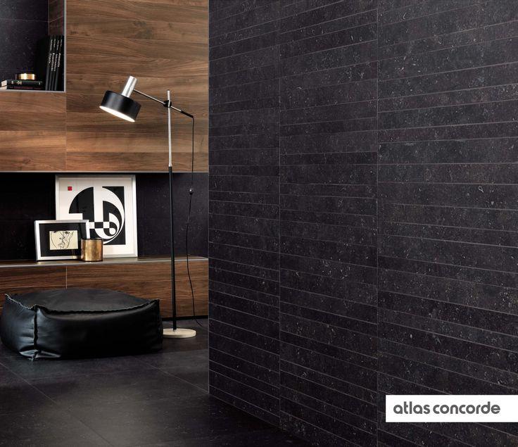 #SEASTONE black | #Mosaic | #AtlasConcorde | #Tiles | #Ceramic | #PorcelainTiles