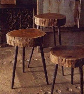 DIY fezes ou mesas de café.  Eu amo essa idéia!  :):