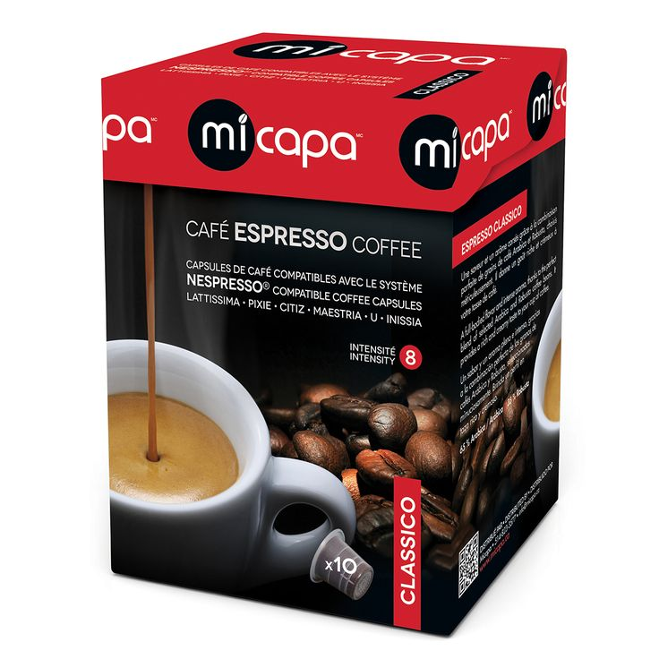 Personal Edge : Micapa CL-001-10 Classico Espresso Coffee Pods