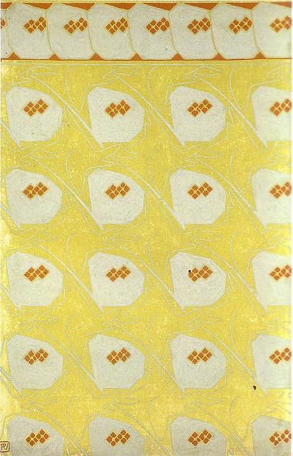 Vojtech Preissig, project for paper paint, c. 1900. Gouache.