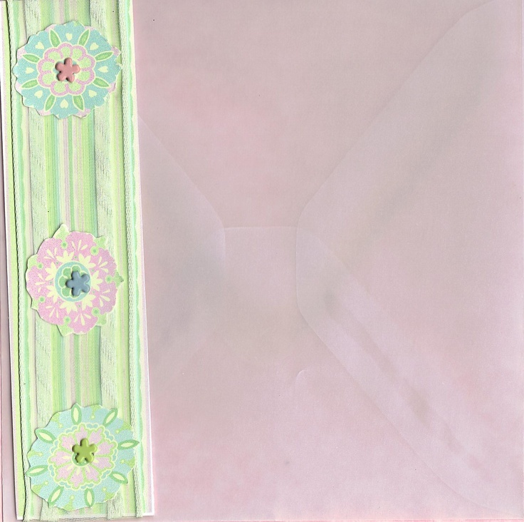Envelope for Bathtime Gal Birthday Card 2010. It's actually a clear vellum not pinkBirthday Cards, Gal Birthday