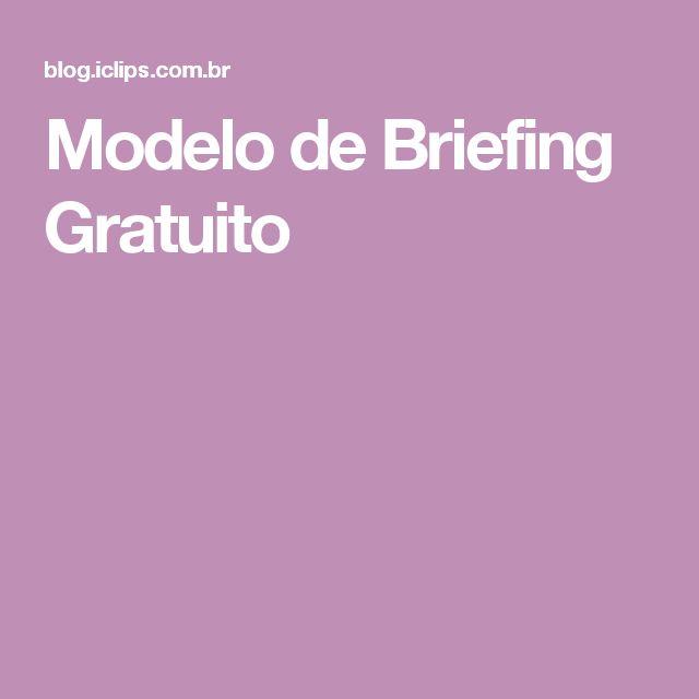 Modelo de Briefing Gratuito