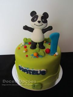 Doces Opções: Bolo do 1º aniversário do Mateus com o Panda