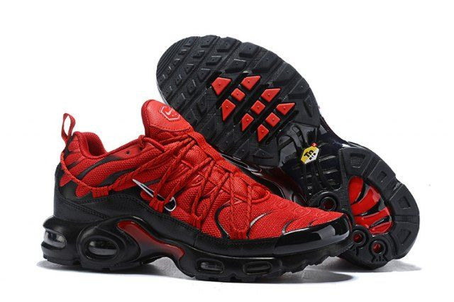 new style 63e78 33278 Drake Reveals Nike Air Max Plus For Stage TN 2019 Bright Red Black Sneakers  Men s Running Shoes