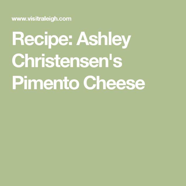 Recipe: Ashley Christensen's Pimento Cheese