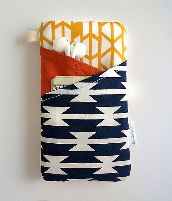 This eye catching Southwestern iPhone wallet case is perfect for protecting your cell phone. Tailor sewn to your specific model of iPhone- by Seaside Sew
