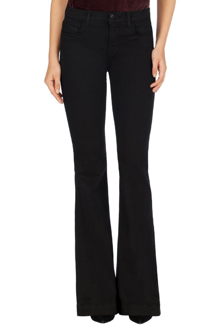 J BRAND 23021 Maria Flare in Seriously Black.