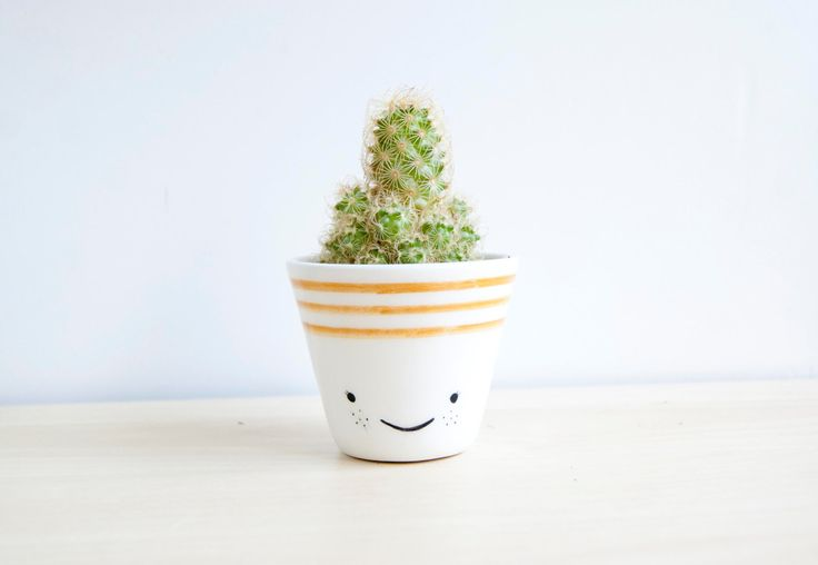 Ceramic planters, Ceramic planter, Succulent planter, Ceramics & pottery, Flower plant pot, kawaii house, kawaii ceramic, cacti planter by noemarin on Etsy https://www.etsy.com/listing/242113988/ceramic-planters-ceramic-planter