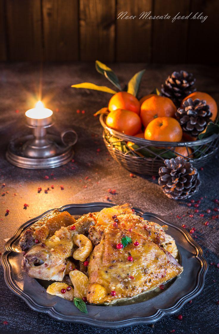 Faraona alle clementine e prosecco food photography christmas