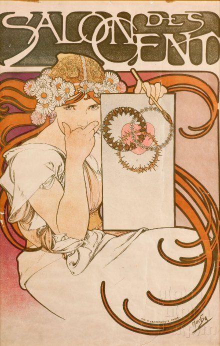 Salon des Cent by Alphonse Mucha, 1897. www.esbirky.cz, CC0