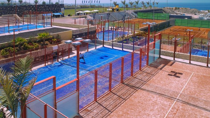 Our paddle courts! Amazing qualities.