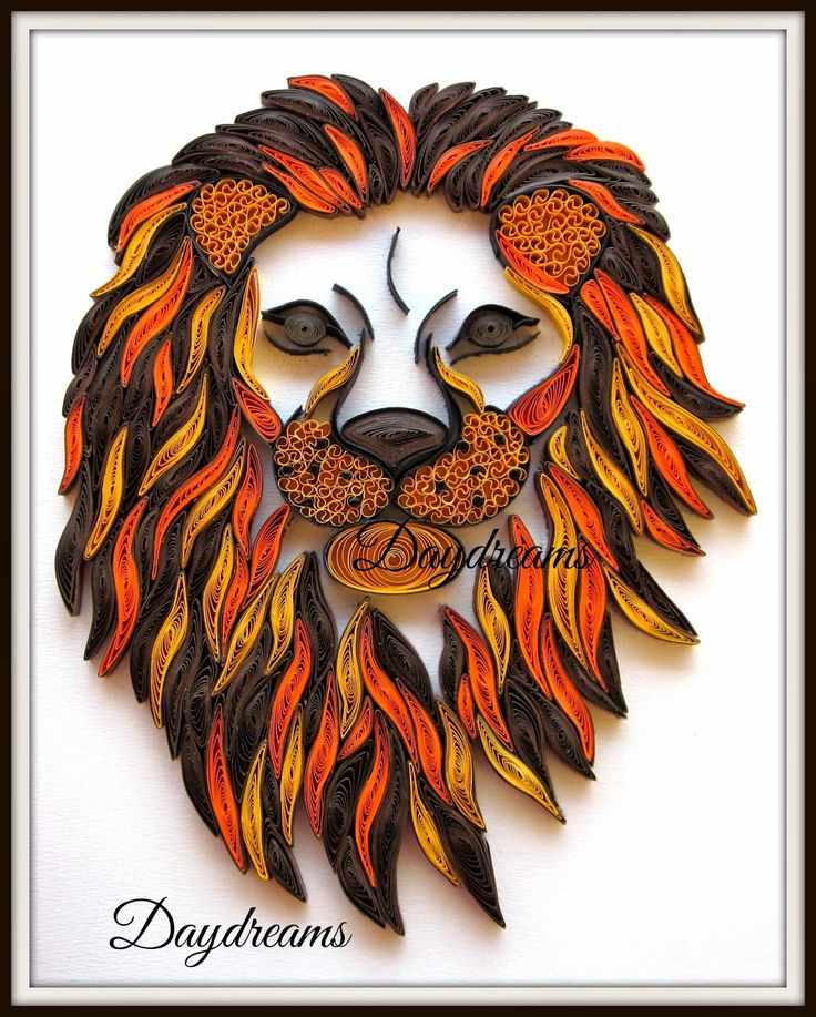 DAYDREAMS: Quilled lion head