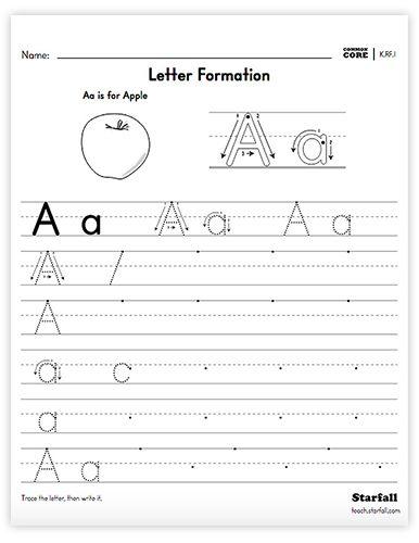 Kindergarten Letter Formation Worksheet Generator   K.RF.1 ...