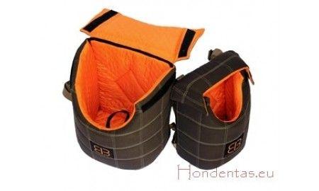 Lenis front/back pack hondentas  rug / buik zak