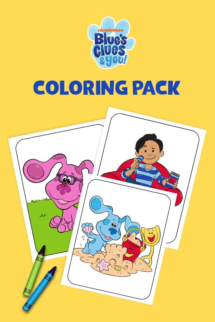 Blue S Clues You Coloring Pack Blues Clues Blue S Clues Coloring Pages