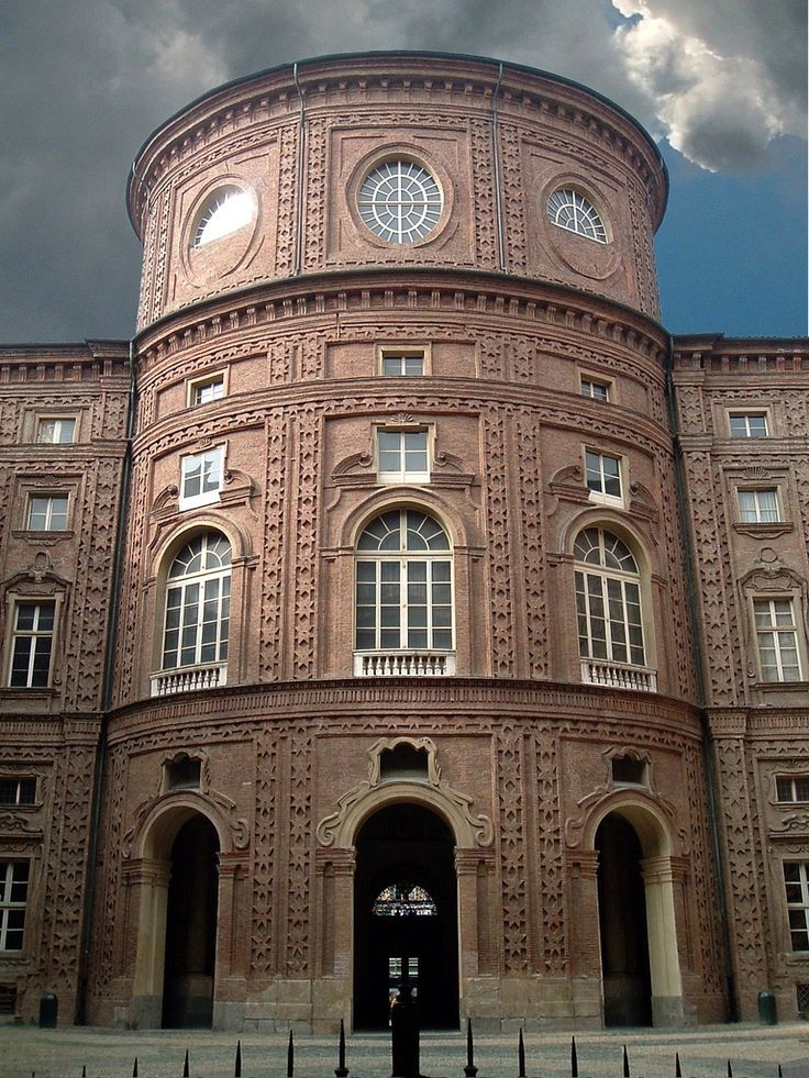 Palazzo Carignano, Turin - Inner courtyard facade Guarino Guarini