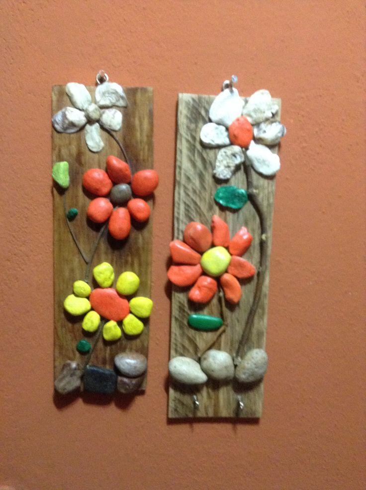 74 best images about mis creaciones on pinterest - Cuadros hechos con piedras de playa ...