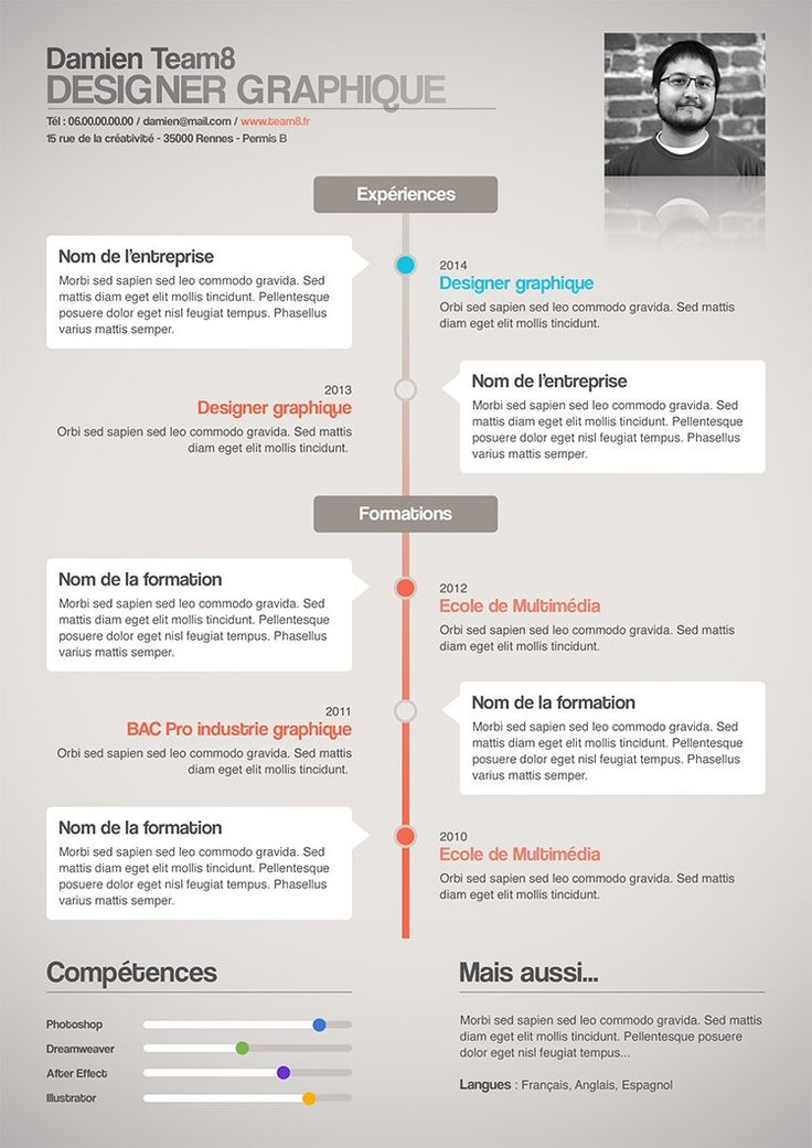 creation de cv design gratuit