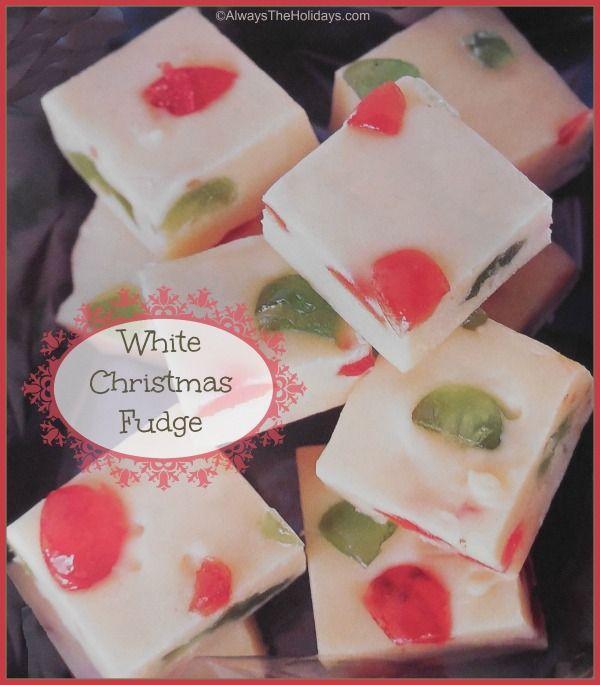 White Christmas Mosaic Jewel Fudge