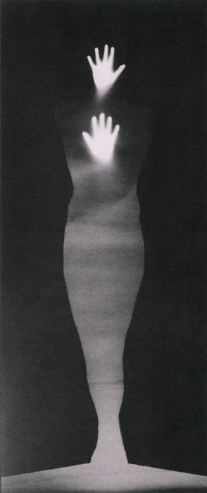 Sound of Two Hand Angel (1974) - Bruce Conner Gelatin silver print photogram.