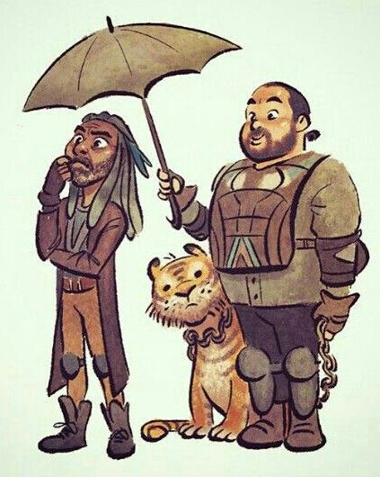 KING EZEKIEL,SHIVA AND JERRY - He May Have Lost Shiva But He's Got A New Loyal Friend In Jerry.