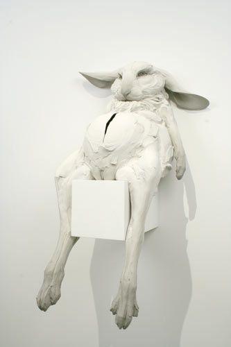 Beth Cavener Stichter - Husk, stoneware based mixed media sculpture