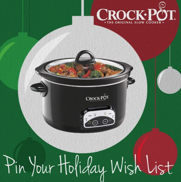 Which Crock-Pot® Slow Cooker do you want the most this holiday? Add your favorite to your holiday wish list with our #Pinterest #sweepstakes! Enter today! [Promotional Pin]