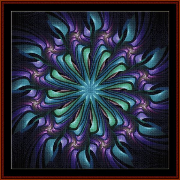 Cross Stitch Collectibles - Detail1 - FR-470 - Fractal 470 - All cross stitch patterns - Abstract - Fractals - Graphic Art - - Whimsical - Cross Stitch Collectibles