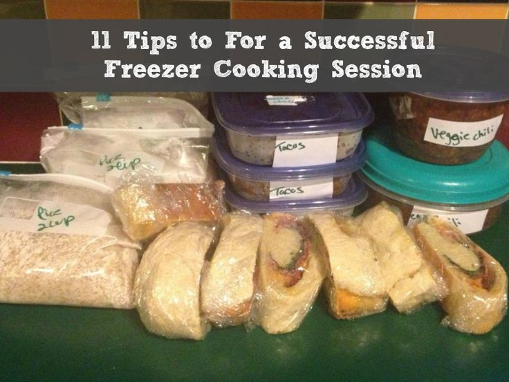 11 Tips for a Successful Freezer Cooking Session #organizeyourselfskinny